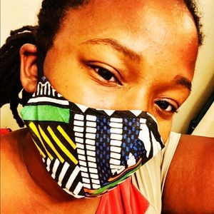African print mask custom made